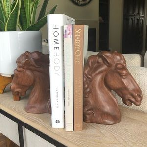 Vintage 70s Horse Head Pottery Alberta's Bookends